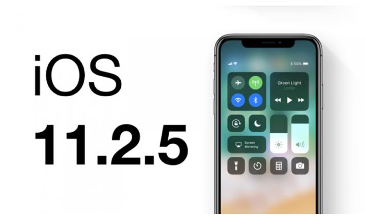Apple; iOS 11.2.5'i yayınladı.