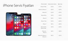 iPhone Servis Fiyatları
