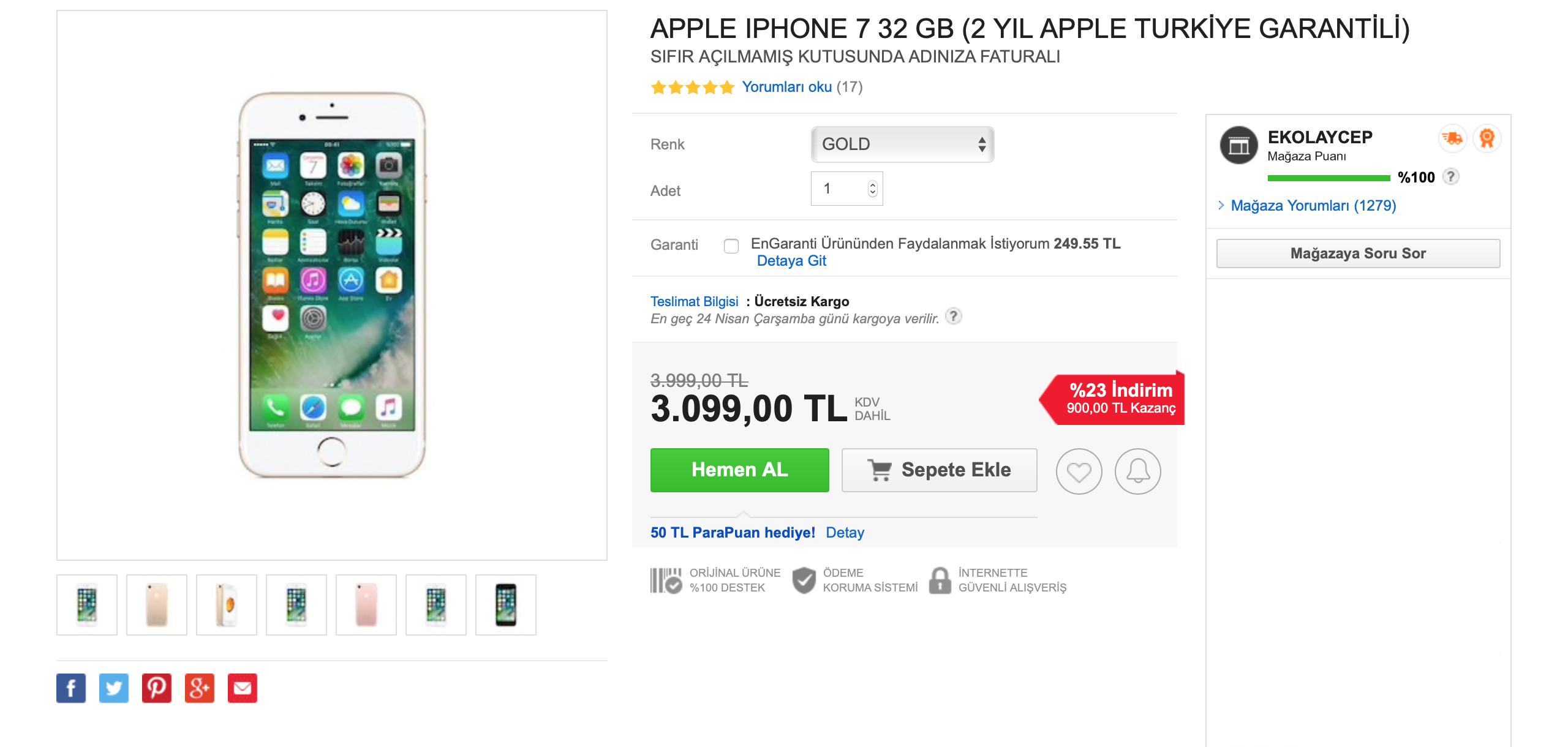 ucuz iphone 7