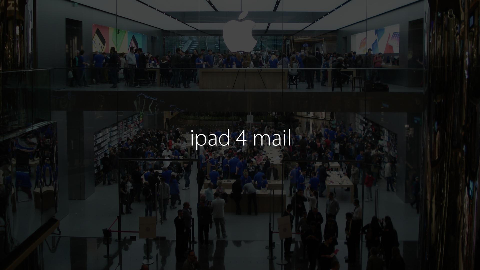 ipad 4 mail