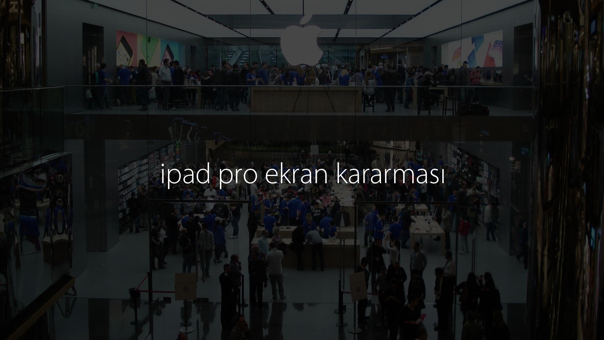 ipad pro ekran kararması