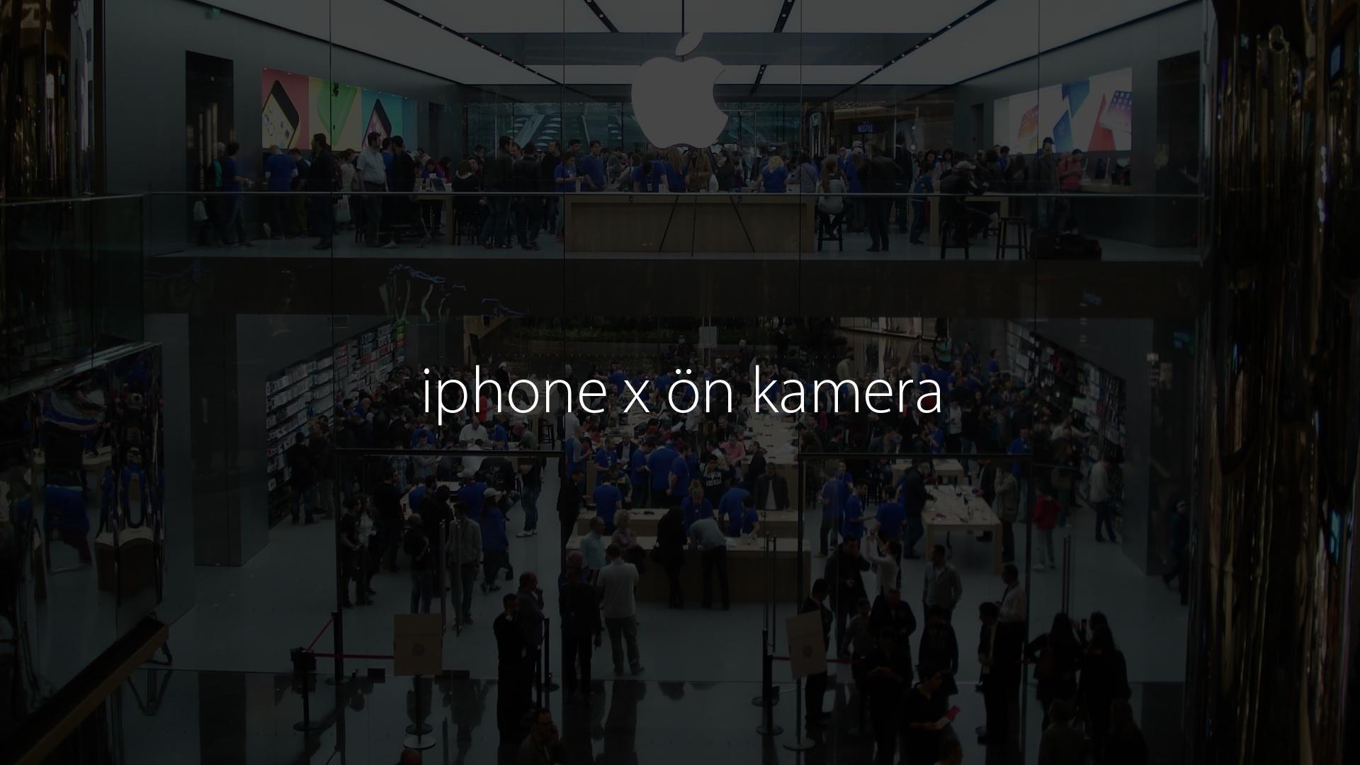 iphone x ön kamera